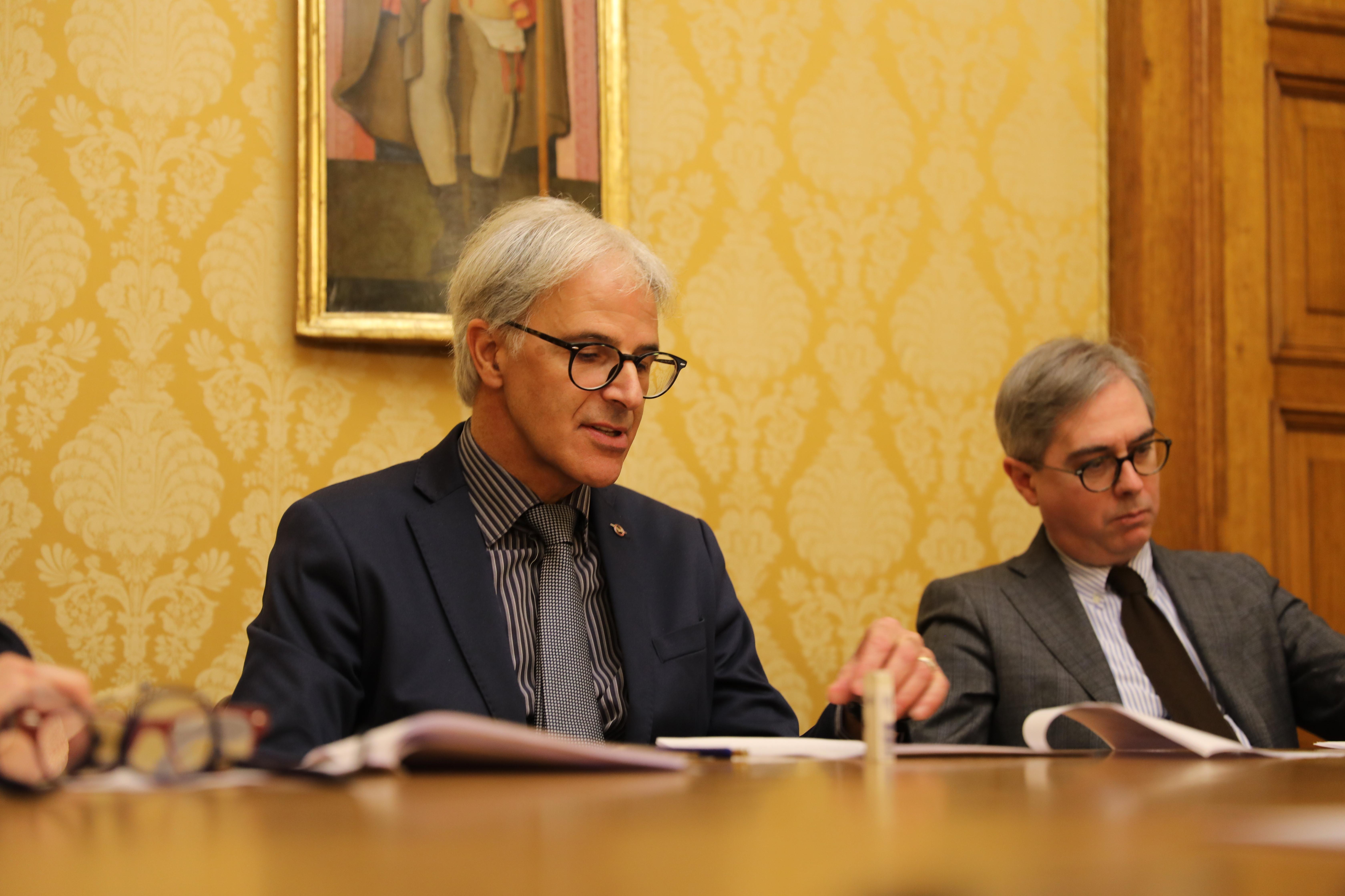 Umberto Nazzareno Tonti presenta il consuntivo dell'attività 2019 della Fondazione Carifol